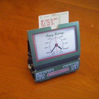 "Barran Liebman – ""Time Clock"" Holiday Card"