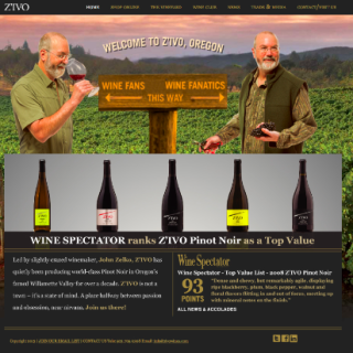 Z'IVO Wines Website