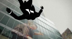 Man falling photo