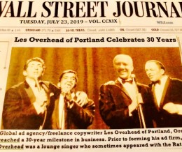"Les Overhead in ""Wall Street Journal"""